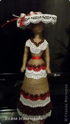 Куклы Поделка изделие Моделирование конструирование Кукломания  Бутылки пластиковые Кофе Кружево Шпагат фото 2