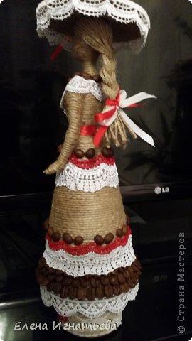 Куклы Поделка изделие Моделирование конструирование Кукломания  Бутылки пластиковые Кофе Кружево Шпагат фото 4