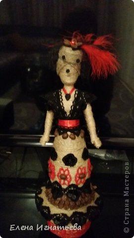 Куклы Поделка изделие Моделирование конструирование Кукломания  Бутылки пластиковые Кофе Кружево Шпагат фото 8