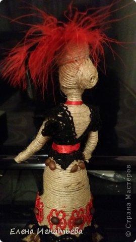 Куклы Поделка изделие Моделирование конструирование Кукломания  Бутылки пластиковые Кофе Кружево Шпагат фото 11