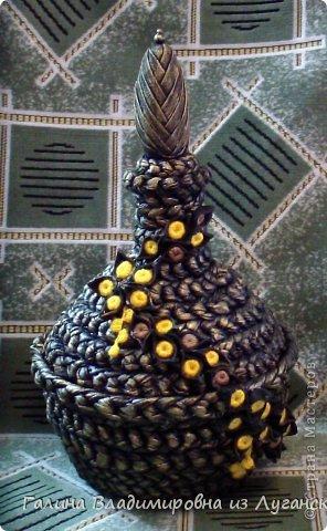 Мастер-класс Поделка изделие Моделирование конструирование Плетение Ваза-шкатулка из футболок МК Материал бросовый фото 1