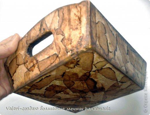 Декор предметов Мастер-класс Декупаж МК Ложный мрамор Клей Краска Салфетки Спички Чай фото 15