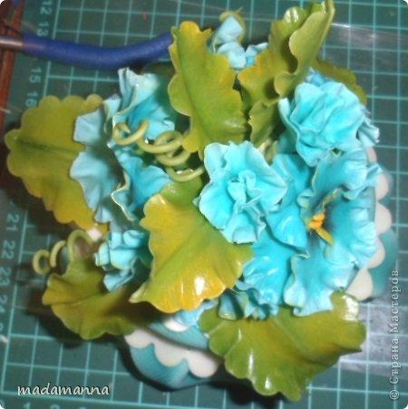 Мастер-класс Флористика Лепка Шкатулка с анютками Фарфор холодный фото 18