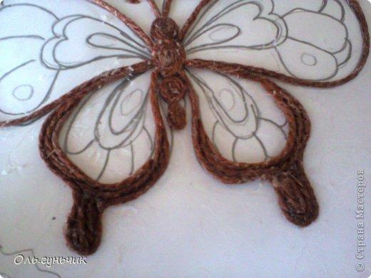 Интерьер Мастер-класс Поделка изделие Аппликация МК Филигранной бабочки Шпагат фото 10