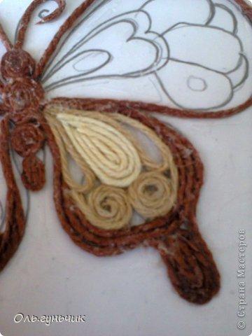 Интерьер Мастер-класс Поделка изделие Аппликация МК Филигранной бабочки Шпагат фото 13
