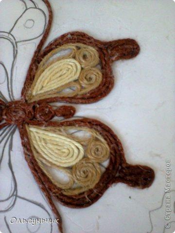 Интерьер Мастер-класс Поделка изделие Аппликация МК Филигранной бабочки Шпагат фото 14
