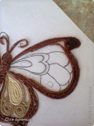 Интерьер Мастер-класс Поделка изделие Аппликация МК Филигранной бабочки Шпагат фото 16