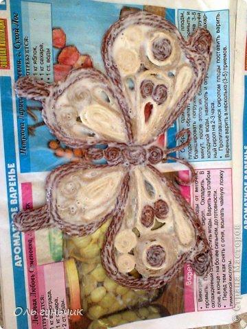 Интерьер Мастер-класс Поделка изделие Аппликация МК Филигранной бабочки Шпагат фото 24