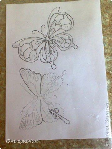 Интерьер Мастер-класс Поделка изделие Аппликация МК Филигранной бабочки Шпагат фото 5