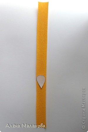 Мастер-класс Поделка изделие Моделирование конструирование Роза из гофрированной бумаги Бумага гофрированная Клей фото 3