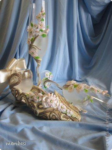 Декор предметов Поделка изделие Стихи Свадьба Лепка Весна любовь  свадебный сезон Бусинки Клей Кружево Ленты Пластика фото 42
