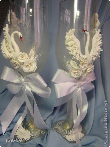 Декор предметов Поделка изделие Стихи Свадьба Лепка Весна любовь  свадебный сезон Бусинки Клей Кружево Ленты Пластика фото 9