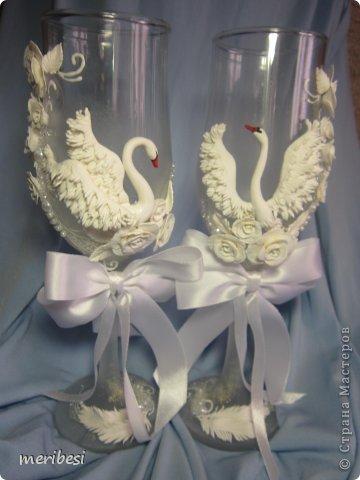 Декор предметов Поделка изделие Стихи Свадьба Лепка Весна любовь  свадебный сезон Бусинки Клей Кружево Ленты Пластика фото 6
