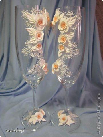 Декор предметов Поделка изделие Стихи Свадьба Лепка Весна любовь  свадебный сезон Бусинки Клей Кружево Ленты Пластика фото 45
