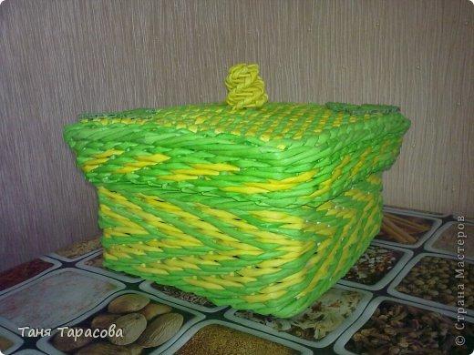 Мастер-класс Поделка изделие Плетение Плетеная шкатулка и МК узора Бумага газетная фото 12