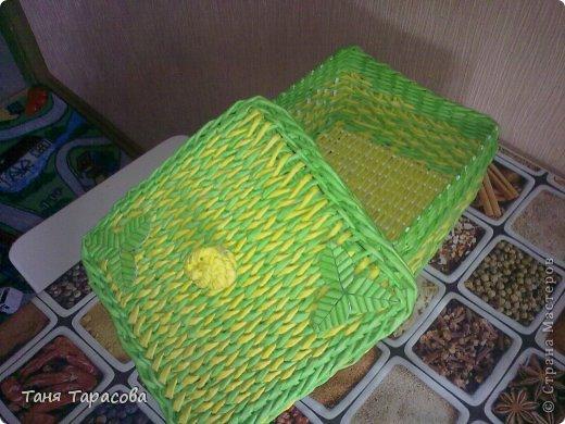 Мастер-класс Поделка изделие Плетение Плетеная шкатулка и МК узора Бумага газетная фото 13