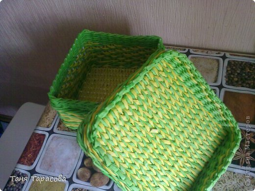 Мастер-класс Поделка изделие Плетение Плетеная шкатулка и МК узора Бумага газетная фото 10
