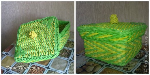 Мастер-класс Поделка изделие Плетение Плетеная шкатулка и МК узора Бумага газетная фото 1
