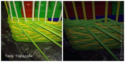 Мастер-класс Поделка изделие Плетение Плетеная шкатулка и МК узора Бумага газетная фото 6