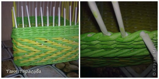 Мастер-класс Поделка изделие Плетение Плетеная шкатулка и МК узора Бумага газетная фото 8
