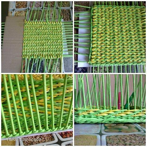 Мастер-класс Поделка изделие Плетение Плетеная шкатулка и МК узора Бумага газетная фото 9
