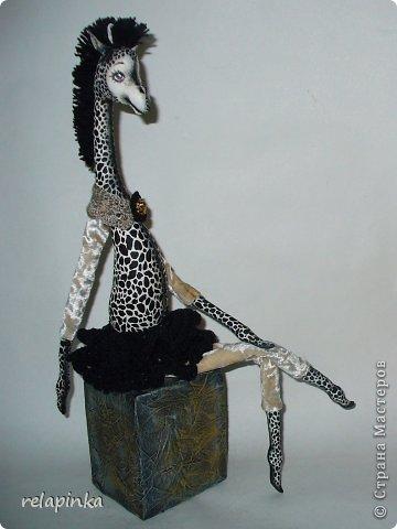Игрушка Шитьё Жирафа+фото процесса Ткань фото 25