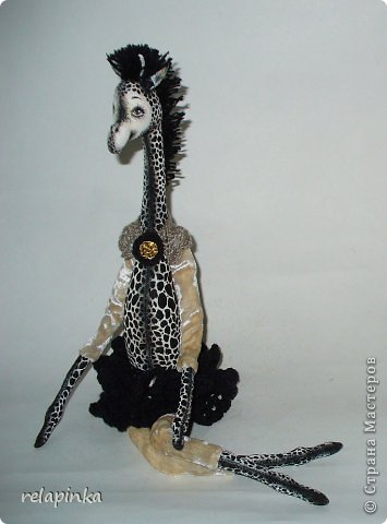 Игрушка Шитьё Жирафа+фото процесса Ткань фото 28