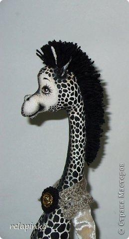 Игрушка Шитьё Жирафа+фото процесса Ткань фото 29