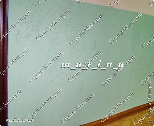 Декор предметов Мастер-класс Аппликация Лепка Роспись МК Фреска в подъезде Сакура для новичков Гипс Краска фото 4