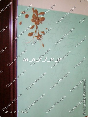 Декор предметов Мастер-класс Аппликация Лепка Роспись МК Фреска в подъезде Сакура для новичков Гипс Краска фото 6