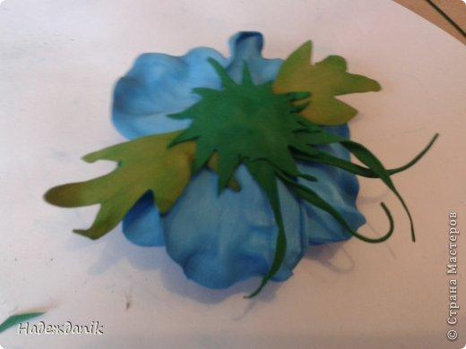 Мастер-класс Украшение Моделирование конструирование цветок из фома с самого начала Фоамиран фом фото 23