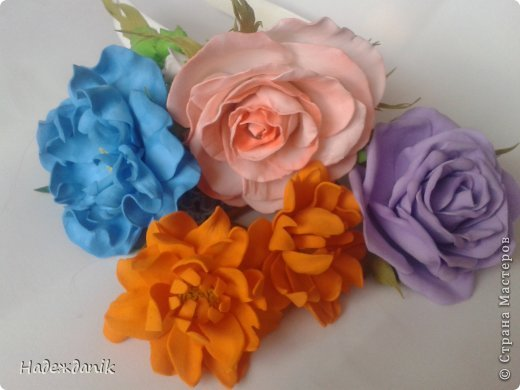 Мастер-класс Украшение Моделирование конструирование цветок из фома с самого начала Фоамиран фом фото 25