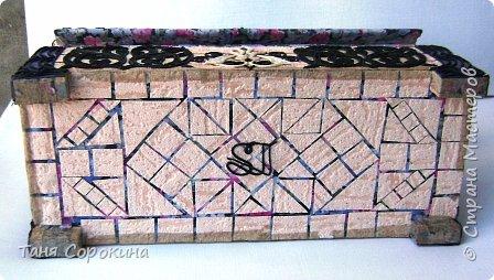 Мастер-класс Поделка изделие Коллаж Сундук восточный Пейп-арт Мастер-класс Бумага Гипс Картон Салфетки фото 8