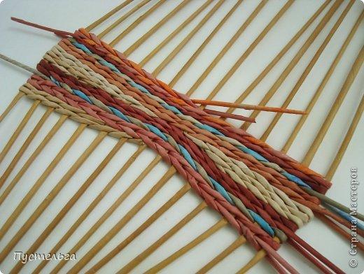 Мастер-класс Поделка изделие Плетение Поднос или утилизация трубочек Бумага газетная Трубочки бумажные фото 3