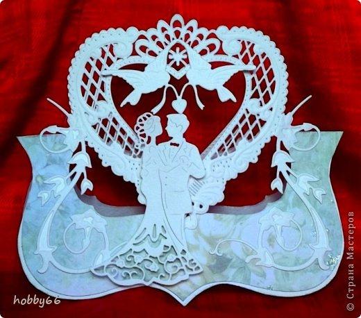 Открытка Свадьба Вырезание Давай поженимся  Бумага Картон Клей фото 1
