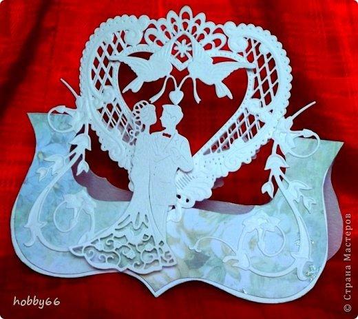 Открытка Свадьба Вырезание Давай поженимся  Бумага Картон Клей фото 2