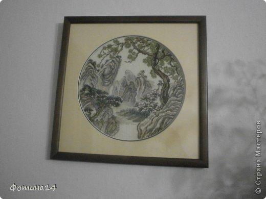 Картина панно рисунок Вышивка крестом Цветы Вышивка Канва Нитки фото 6