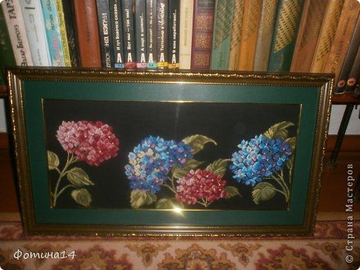 Картина панно рисунок Вышивка крестом Цветы Вышивка Канва Нитки фото 4