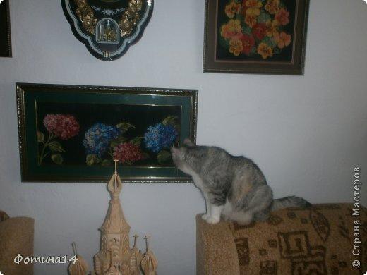 Картина панно рисунок Вышивка крестом Цветы Вышивка Канва Нитки фото 5