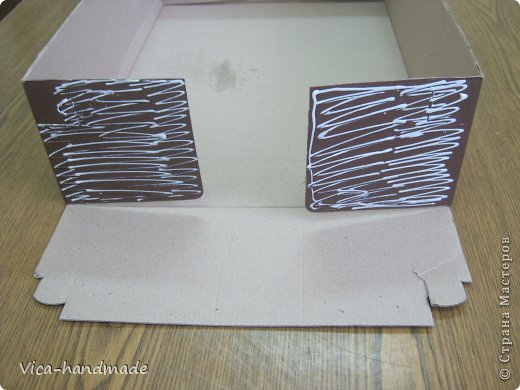 Декор предметов Мастер-класс День рождения Аппликация МК Как обтянуть коробку тканью Два варианта Бумага Картон Ленты Ткань фото 4