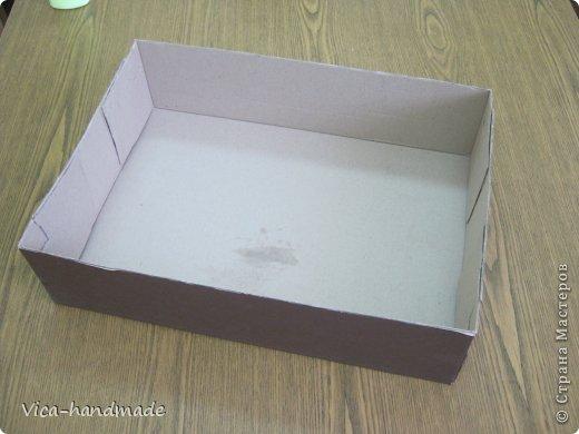 Декор предметов Мастер-класс День рождения Аппликация МК Как обтянуть коробку тканью Два варианта Бумага Картон Ленты Ткань фото 6