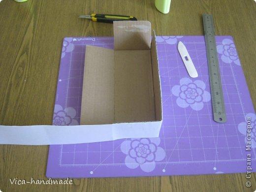 Декор предметов Мастер-класс День рождения Аппликация МК Как обтянуть коробку тканью Два варианта Бумага Картон Ленты Ткань фото 99