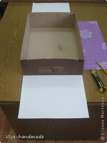 Декор предметов Мастер-класс День рождения Аппликация МК Как обтянуть коробку тканью Два варианта Бумага Картон Ленты Ткань фото 8