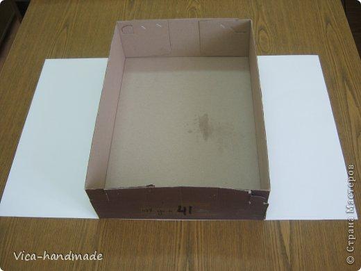Декор предметов Мастер-класс День рождения Аппликация МК Как обтянуть коробку тканью Два варианта Бумага Картон Ленты Ткань фото 9
