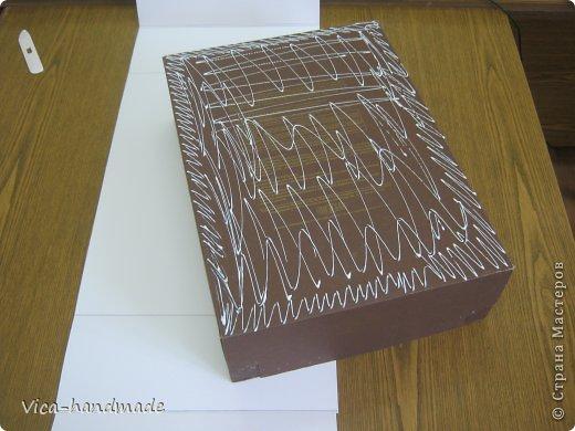 Декор предметов Мастер-класс День рождения Аппликация МК Как обтянуть коробку тканью Два варианта Бумага Картон Ленты Ткань фото 14
