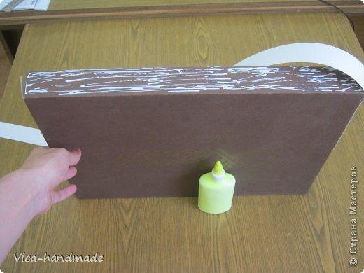 Декор предметов Мастер-класс День рождения Аппликация МК Как обтянуть коробку тканью Два варианта Бумага Картон Ленты Ткань фото 29
