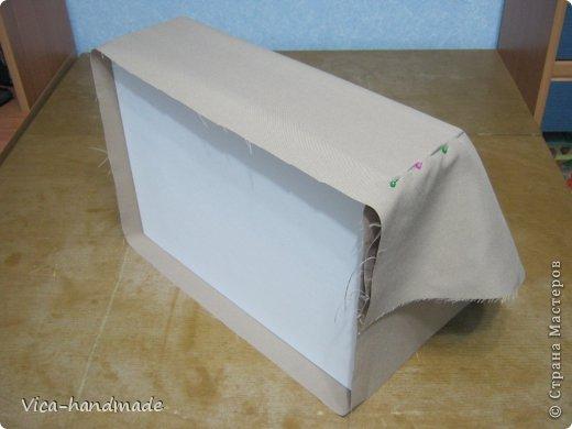 Декор предметов Мастер-класс День рождения Аппликация МК Как обтянуть коробку тканью Два варианта Бумага Картон Ленты Ткань фото 36