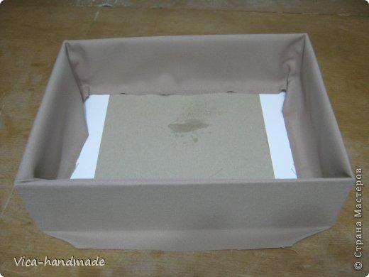 Декор предметов Мастер-класс День рождения Аппликация МК Как обтянуть коробку тканью Два варианта Бумага Картон Ленты Ткань фото 41