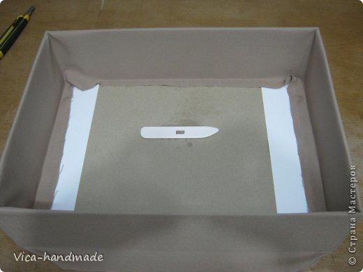 Декор предметов Мастер-класс День рождения Аппликация МК Как обтянуть коробку тканью Два варианта Бумага Картон Ленты Ткань фото 44