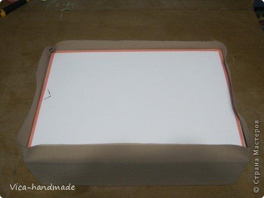 Декор предметов Мастер-класс День рождения Аппликация МК Как обтянуть коробку тканью Два варианта Бумага Картон Ленты Ткань фото 53